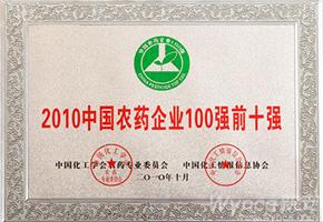2010中国农药企业100强前十强